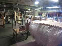 A peek inside the Louisville Slugger factory.