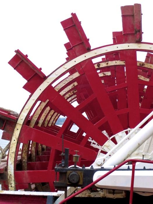 Sternwheel of the Belle of Louisville.