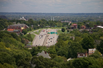 An all-too-familiar stretch of road: Highway 44 at Jefferson Ave.