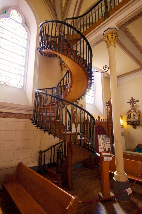 "The ""Miraculous Staircase"" at the Loretto Chapel."